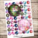 Digitális kép ékszerkészítéshez 25x25mm - indie háromszögek, galaxis, Gyöngy, ékszerkellék, Üveglencse, Ékszerkészítés, Grafika, fotó, ------------ AKCIÓ ----------- 3+1 akció Vásárolj 3 kollázst és a negyediket ajándékba kapod. (Csak..., Alkotók boltja