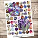 Digitális kép ékszerkészítéshez 25x25mm - Kertészkedjünk, Gyöngy, ékszerkellék, Papír, Alkotók boltja