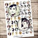 Digitális kép ékszerkészítéshez 25x25mm - Audrey Hepburn, Gyöngy, ékszerkellék, Papír, Ékszerkészítés, Grafika, fotó, ------------ AKCIÓ ----------- 3+1 akció Vásárolj 3 kollázst és a negyediket ajándékba kapod. (Csak..., Alkotók boltja
