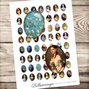 Digitális kép ékszerkészítéshez 18x25mm-es - Régi hölgy portrék és impresszionista festmények, Gyöngy, ékszerkellék, Papír, Grafika, fotó, Ékszerkészítés, ------------ AKCIÓ ----------- 3+1 akció Vásárolj 3 kollázst és a negyediket ajándékba kapod. (Csak..., Alkotók boltja
