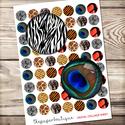 Digitális kép ékszerkészítéshez 25x25mm - állati textúrák, Gyöngy, ékszerkellék, Papír, ------------ AKCIÓ ----------- 3+1 akció Vásárolj 3 kollázst és a negyediket ajándékba kapod. (Csak ..., Alkotók boltja