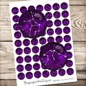 Digitális kép ékszerkészítéshez - 25x25mm csillagjegyek, lila, Gyöngy, ékszerkellék, Papír, ------------ AKCIÓ ----------- 3+1 akció Vásárolj 3 kollázst és a negyediket ajándékba kapod. (Csak ..., Alkotók boltja
