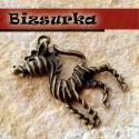 Antik bronz zebra, medál, Gyöngy, ékszerkellék, Gyönyörű, antik,bronz, zebra, strasszozható. Méret: 40 x 30 mm.  Akár egy nyakláncra akár egy bőrszá..., Alkotók boltja