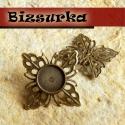 2 db Antik bronz  fülbevaló + fülbevaló hátsó / 2 típus, Gyöngy, ékszerkellék, Üveglencse, 1 - Antik bronz színű, szögletes virág fülbevaló + hátsó Méret: 25 x 25 mm, belső méret: 10 mm  2 - ..., Alkotók boltja