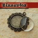 Antik bronz nap medálalap (20K-01) + üveglencse 20mm, Gyöngy, ékszerkellék, medálalap + üveglencse   Ez az antik bronz nap keret szépen körbeöleli majd alkotásod.  Méret..., Alkotók boltja