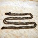 Antik bronz, csavarszemű nyaklánc delfinkapoccsal (50cm), Gyöngy, ékszerkellék, Alkotók boltja