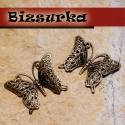 2db Antik bronz filigrán pillangó. medál köztes, fülbevaló alap, Gyöngy, ékszerkellék, Gyönyörű, antik bronz pillangó, charm. Méret: 26 x 36 mm.   Akár egy nyakláncra akár egy bőrszálra f..., Alkotók boltja
