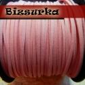 Világos rózsaszín velúr hatású műbőrszál, Gyöngy, ékszerkellék, Egyéb alkatrész, Alkotók boltja