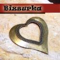 Antik bronz óriás szív, Gyöngy, ékszerkellék, Ékszerkészítés, Látványos, antik bronz óriás  szív, medál. Méret: 70 x 70 mm.  Akár egy nyakláncra akár egy bőrszál..., Alkotók boltja