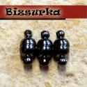 3db Fekete (gunmetal) mágneses zár, Gyöngy, ékszerkellék, Egyéb alkatrész, Fekete (gunmetal) mágneses zár. Mérete: 11x5 mm.  Egy csomag 3 darabot tartalmaz.  Az ár 1 csomagra,..., Alkotók boltja
