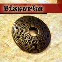 Tibeti stílusú, kerek, antik bronz medálalap. köztes, lap, Gyöngy, ékszerkellék, Kerek, antik bronz medálalap. köztes, lap. Sokoldalú ékszerkellék. Készíthetsz belőle fülbe..., Alkotók boltja
