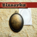 Antik bronz medálalap (5035) + epoxi 30x40 mm, Gyöngy, ékszerkellék, Antik bronz medálalap . Méret: 50 x 35 mm. epoxi mérete: 30 x 40 mm.  Kérheted üveglencsével i..., Alkotók boltja