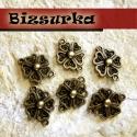 Antik bronz virág köztes / 2 típus, Gyöngy, ékszerkellék, Fém köztesek, Antik bronz  virág köztes.   Választható: - 5 szirmú -   Használható karkötő, lánc vagy fülbevaló ké..., Alkotók boltja