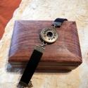 Noosa karkötő bronz, 3.típus, velúr hatású műbőrrel, 1 patentos, Gyöngy, ékszerkellék, Cabochon, Alkotók boltja