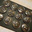 Noosa fémkarkötő, antik bronz színű, 3 patentos, Gyöngy, ékszerkellék, Cabochon, Alkotók boltja
