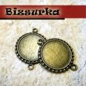 2db Antik bronz medálalap,továbbfűzhető (3023), Gyöngy, ékszerkellék, Fém köztesek, Antik bronz medálalap,továbbfűzhető.Két karika van rajta,így karkötő készítéshez is fel tudod haszná..., Alkotók boltja