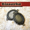 2db Antik bronz(3122)medálalap, Gyöngy, ékszerkellék, Fém köztesek, Antik bronz, medálalap. Méret:  31x 22 mm. Belső méret: 13 x 18 mm.  Az ár 2 db-ra medálra von..., Alkotók boltja