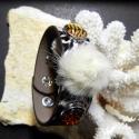 Noosa bőrkarkötő, állatmintás színű 1.típus, Gyöngy, ékszerkellék, Cabochon, Alkotók boltja