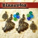 Antik bronz színű páva csomag, Gyöngy, ékszerkellék, Egyéb alkatrész, Antik bronz színű páva csomag.  A csomag tartalma:  -2db nagy páva,35 x 20 mm, -2db kis páva ,19 x 1..., Alkotók boltja