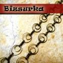 Antik bronz, különleges 2 karikás lánc (40cm) , Gyöngy, ékszerkellék, Egyéb alkatrész, Antik bronz, különleges 2 karikás lánc. Nagyon érdekes, különlegesen fűzött lánc,mutatós ..., Alkotók boltja