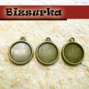 3db Antik bronz kétoldalas medálalap, (14mm), Gyöngy, ékszerkellék, Fém köztesek, Antik bronz kétoldalas medálalap. A medál mindkét oldalát díszítheted. 14mm üveglencsét ajánlunk hoz..., Alkotók boltja