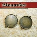 2db Antik bronz kétoldalas továbbfűzhető medálalap, (25mm), Gyöngy, ékszerkellék, Fém köztesek, Antik bronz kétoldalas, továbbfűzhető medálalap. A medál mindkét oldalát díszítheted. 25mm epoximatr..., Alkotók boltja