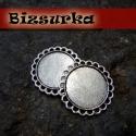 2db Nikkel ezüst színű kerek köztes, Gyöngy, ékszerkellék, Nikkel ezüst színű, kerek köztes . A hullámos keret szépen körbeöleli majd alkotásod.  Méret: 26 x 2..., Alkotók boltja