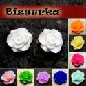Rózsa kaboson 20mm, választható színben, Gyöngy, ékszerkellék, Cabochon, Ékszerkészítés, Fém köztesek, Műgyanta rózsa kaboson, választható színben.  - Fehér - Rózsaszín - Világoszöld - Lila - Királykék ..., Alkotók boltja