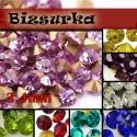 3,4mm-s strassz (15db) választható színben, Gyöngy, ékszerkellék, Ékszerkészítés, Lilásrózsaszín strassz vagy választhatsz más színt is.  Swarovski kristályhoz hasonló, foglalható, ..., Alkotók boltja