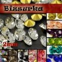 2mm-s strassz (40db) választható színben, Gyöngy, ékszerkellék, Fehér strassz vagy választhatsz más színűt is. Swarovski kristályhoz hasonló, foglalható, (kúpos hát..., Alkotók boltja