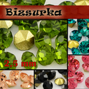 2,5mm-s strassz (30db) választható színben, Gyöngy, ékszerkellék, Olivzöld strassz vagy választhatsz más színt is.  Swarovski kristályhoz hasonló, foglalható, (kúpos ..., Alkotók boltja