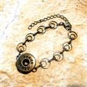 18-as Noosa köztes - nikkel ezüst / antik bronz színű , Gyöngy, ékszerkellék, Alkotók boltja