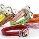 Noosa műbőrkarkötő 1 patentos / 8-féle színben, Gyöngy, ékszerkellék, Cabochon, Alkotók boltja