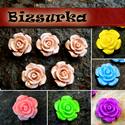 5db Rózsa kaboson, 15mm / választható színben, Gyöngy, ékszerkellék, Cabochon, Műgyanta rózsa kaboson,   Választható színek: - barnás-rózsaszín - rózsaszín - sárga - zöld - ciánké..., Alkotók boltja