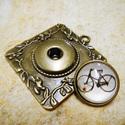 Patentos Noosa medál bronz színű, 2.tipus, Gyöngy, ékszerkellék, Alkotók boltja