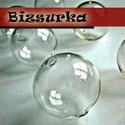 2db fűzhető üveggömb, gyöngy 25 mm-s, Gyöngy, ékszerkellék, Fém köztesek, Alkotók boltja