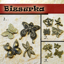 Antik bronz Szárnyalj csomag (4db charm) / 3-féle, Gyöngy, ékszerkellék, Egyéb alkatrész, Alkotók boltja