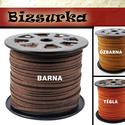 Velúr hatású műbőrszál - Barnák / 12 színben, Gyöngy, ékszerkellék, Egyéb alkatrész, Ékszerkészítés, Bőrművesség, Szerelékek, Velúr hatású műbőrszál Karkötőnek, nyakláncnak, órának ajánlom.  Választható színek: - Barna - Őzba..., Alkotók boltja