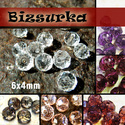 6x4 mm csiszolt üveggyöngy (10db) / Fehér - Lilák, Gyöngy, ékszerkellék, Üveggyöngy, csiszolt üveggyöngy. Mérete: 6 x 4 mm  Választható színek: - Fehér - Füst - Világos rózsaszín - lilá..., Alkotók boltja