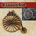 Velocipéd, bicikli medál / 2 színben, Gyöngy, ékszerkellék, Gyönyörű, bicikli medál. méret: 50 x 46 mm  Választható színek: - antik bronz  - nikkel ezüst  Ha a ..., Alkotók boltja
