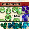 10x7mm  csiszolt üveggyöngy (6db) / Zöldek-Kékek, Gyöngy, ékszerkellék, Üveggyöngy, csiszolt üveggyöngy. Mérete: 10 x 7 mm  Választható színek: - Világos zöld - Smaragd - Sötét türkizk..., Alkotók boltja