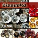 10x7 mm csiszolt üveggyöngy (6db) , Gyöngy, ékszerkellék, Üveggyöngy, csiszolt üveggyöngy. Mérete: 10 x 7 mm  Választható színek: - Fehér - Füst - Grafit - lilás-bordó - ..., Alkotók boltja