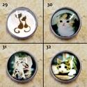 1db Noosa díszpatent 25-36 Cicák / 12 típus, Gyöngy, ékszerkellék, Egyéb alkatrész, Alkotók boltja