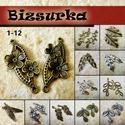 2 db Antik bronz levél-virág medál / 12 féle, Gyöngy, ékszerkellék, Egyéb alkatrész, Választható: 1 - Antik bronz virágos összekötő medál (37x15 mm) 2 - Antik bronz toll charm (46x11 mm..., Alkotók boltja