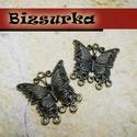 2 db Antik bronz  fülbevalóalap, összekötő, köztes, Gyöngy, ékszerkellék, Fém köztesek, Alkotók boltja