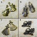 2db antik charm / 12 féle, Gyöngy, ékszerkellék, Egyéb alkatrész, Alkotók boltja