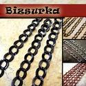 Dupla csavart nagyszemű rovátkás lánc (50cm) / 4 színben, Gyöngy, ékszerkellék, Egyéb alkatrész, Dupla csavart nagyszemű rovátkás lánc (50cm)  Választható színek: - fekete(gunmetal) - bronz ..., Alkotók boltja