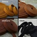 10mm velúr hatású műbőr szalag karkötőnek (20 cm) / 11 színben, Gyöngy, ékszerkellék, Egyéb alkatrész, Alkotók boltja