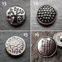 1db Noosa fém díszpatent 13-24 / 12 típus, Gyöngy, ékszerkellék, Egyéb alkatrész, Alkotók boltja