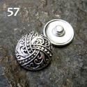1db Noosa fém díszpatent 49-57 / 12 típus, Gyöngy, ékszerkellék, Cabochon, Alkotók boltja